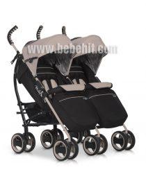 Бебешка количка за близнаци Duo Comfort; цвят: бежов