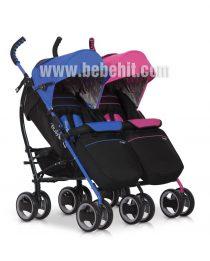 Бебешка количка за близнаци Duo Comfort; цвят: син/розов