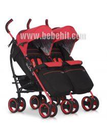 Бебешка количка за близнаци Duo Comfort; цвят: червен