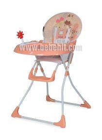 Столче за хранене Jolly; цвят: оранжев