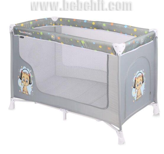 Бебешка кошара San Remo 1 ниво; цвят: сив