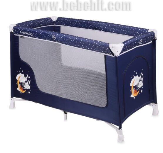 Бебешка кошара San Remo 1 ниво; цвят: син