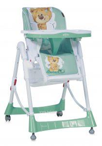 Столче за хранене PRIMO; цвят: зелен