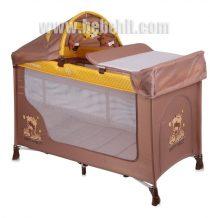 Бебешка кошара San Remo 2 нива +; цвят: жълт/кафяв