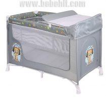 Бебешка кошара San Remo 2 нива; цвят: сив