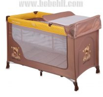 Бебешка кошара San Remo 2 нива; цвят: жълт/кафяв