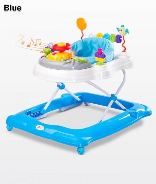 Бебешка проходилка Степ; цвят: син