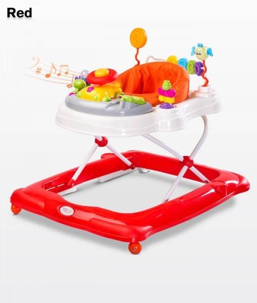 Бебешка проходилка Степ; цвят: червен