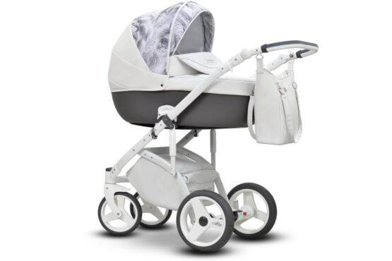 Бебешка количка Modo Next 2в1; цвят: бял