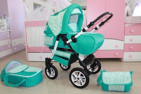 Бебешка количка Ross; цвят: малахит