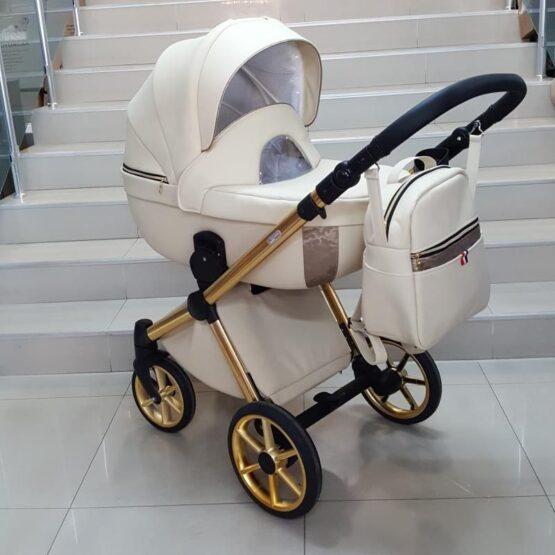 Бебешка количка Азуро 3в1; цвят: крем