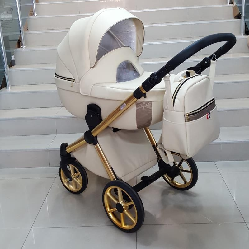 Бебешка количка Азуро 2в1; цвят: крем