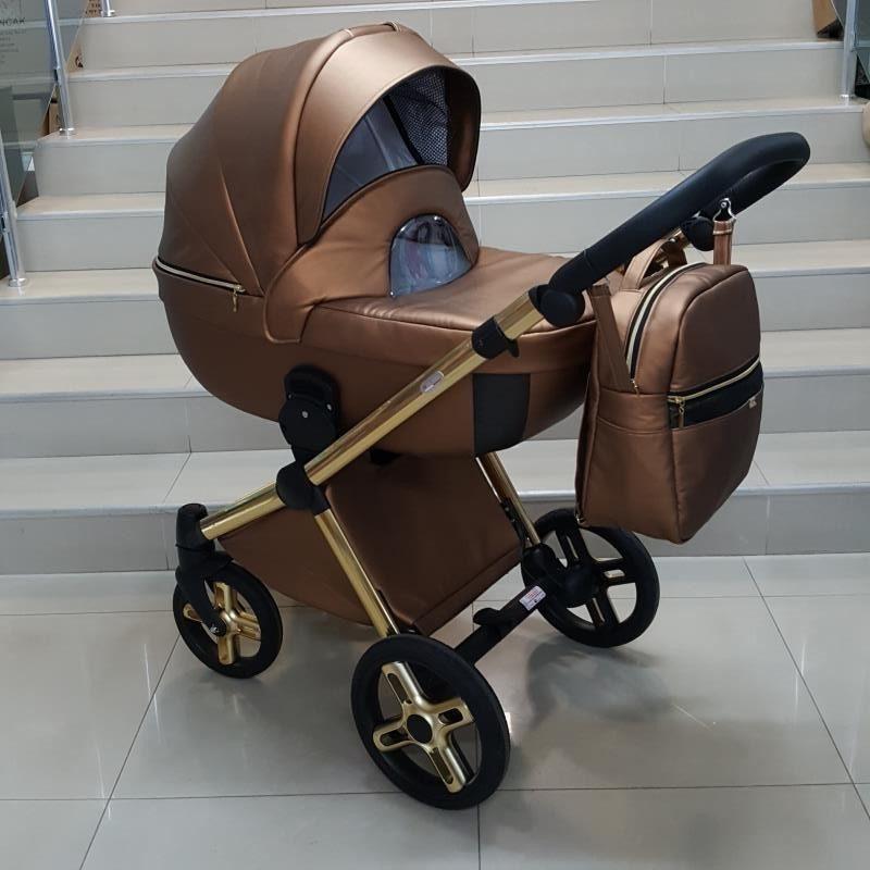 Бебешка количка Азуро 2в1; цвят: кафяв
