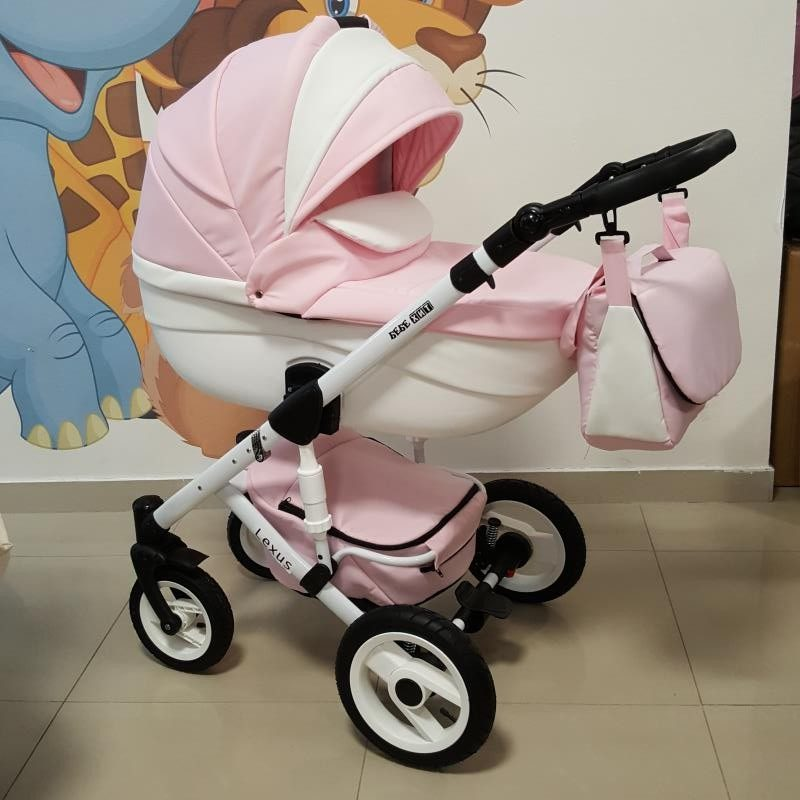 Бебешка количка Лексус 2в1; цвят: розов/бял