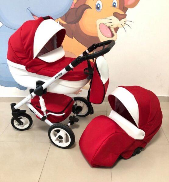 Бебешка количка Jaguar 2в1; цвят: червен/бял