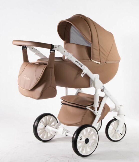 Бебешка количка Ферара 3в1; цвят: орех
