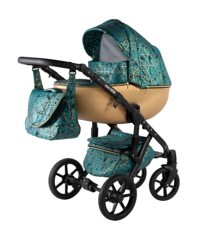 Бебешка количка Ферара 3в1; цвят: малахит