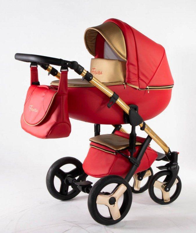 Бебешка количка Ферара Голд 3в1; цвят: червен