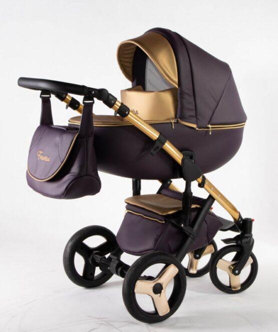 Бебешка количка Ферара Голд 3в1; цвят: лилав