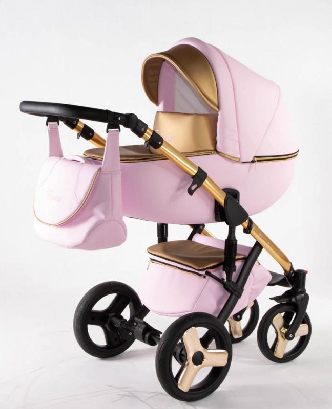 Бебешка количка Ферара Голд 3в1; цвят: розов