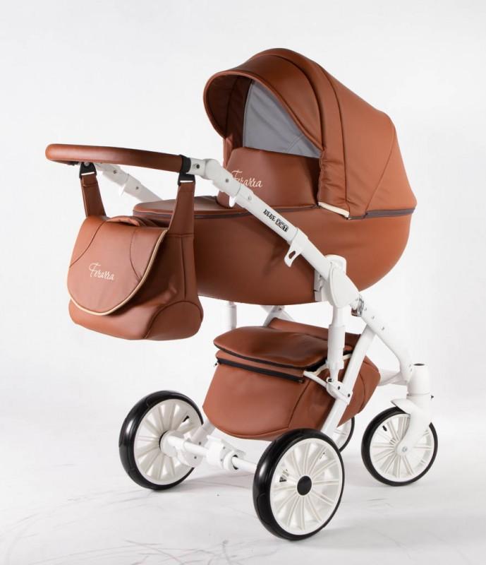 Бебешка количка Ферара 3в1; цвят: канела