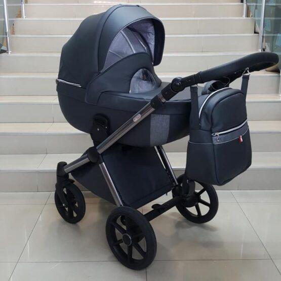 Бебешка количка Азуро 2в1; цвят: тъмно-син