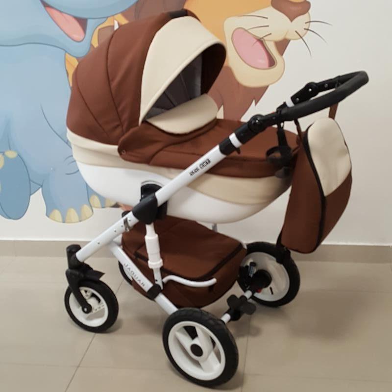 Бебешка количка Ягуар 2в1; цвят: кафяв/крем