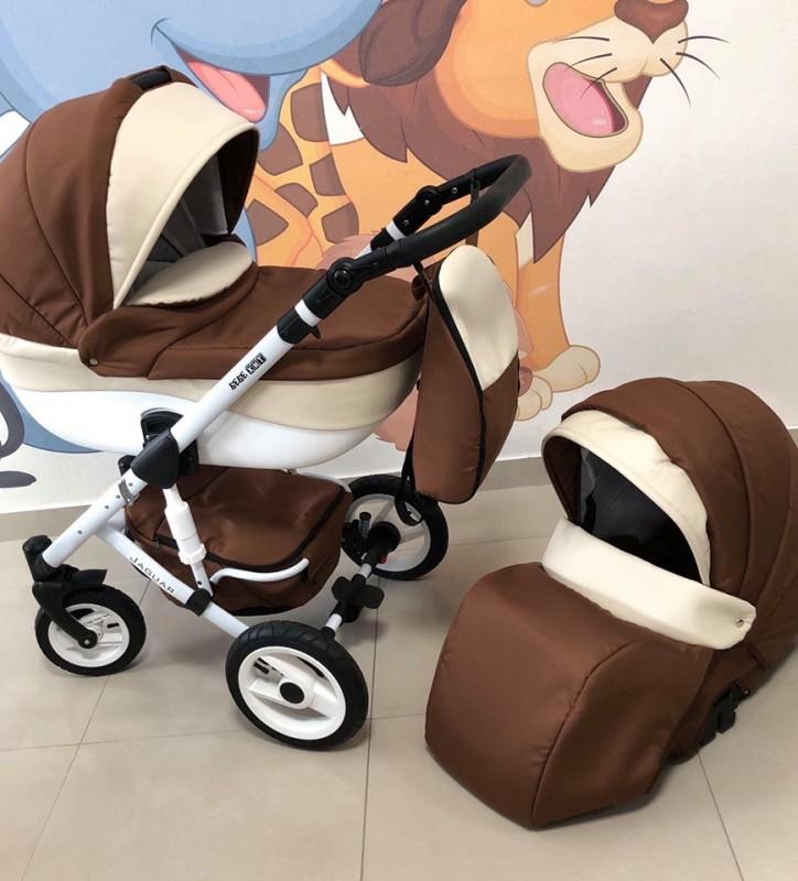 Бебешка количка Jaguar 2в1; цвят: кафяв/крем