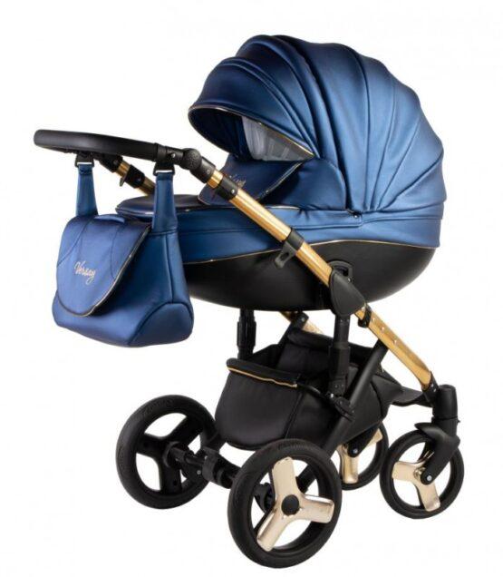 Бебешка количка Versay Gold 3в1; цвят: син/черен