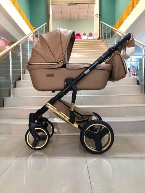 Бебешка количка Hugo 2в1; цвят: бежов