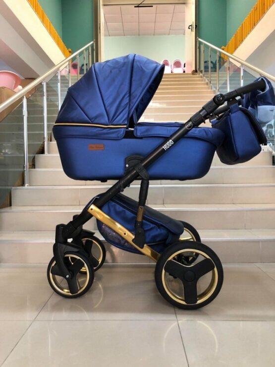 Бебешка количка Hugo 3в1; цвят: син