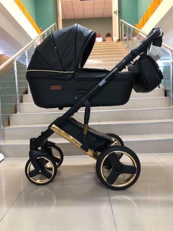 Бебешка количка Hugo 3в1; цвят: черен