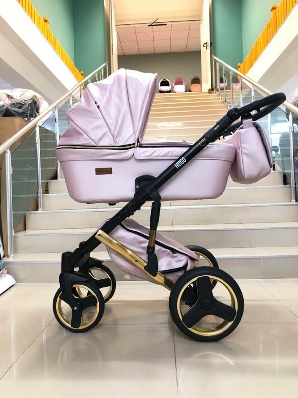 Бебешка количка Hugo 2в1; цвят: розов