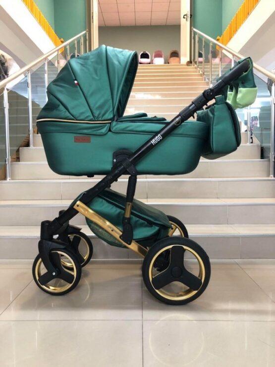 Бебешка количка Hugo 2в1; цвят: зелен