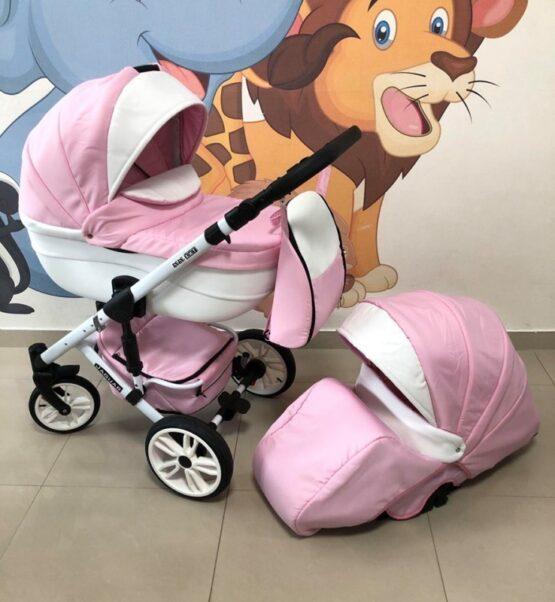 Бебешка количка Jaguar 2в1; цвят: розов