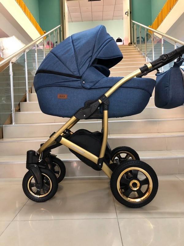 Бебешка количка Avinion 3в1; цвят: тъмно-син