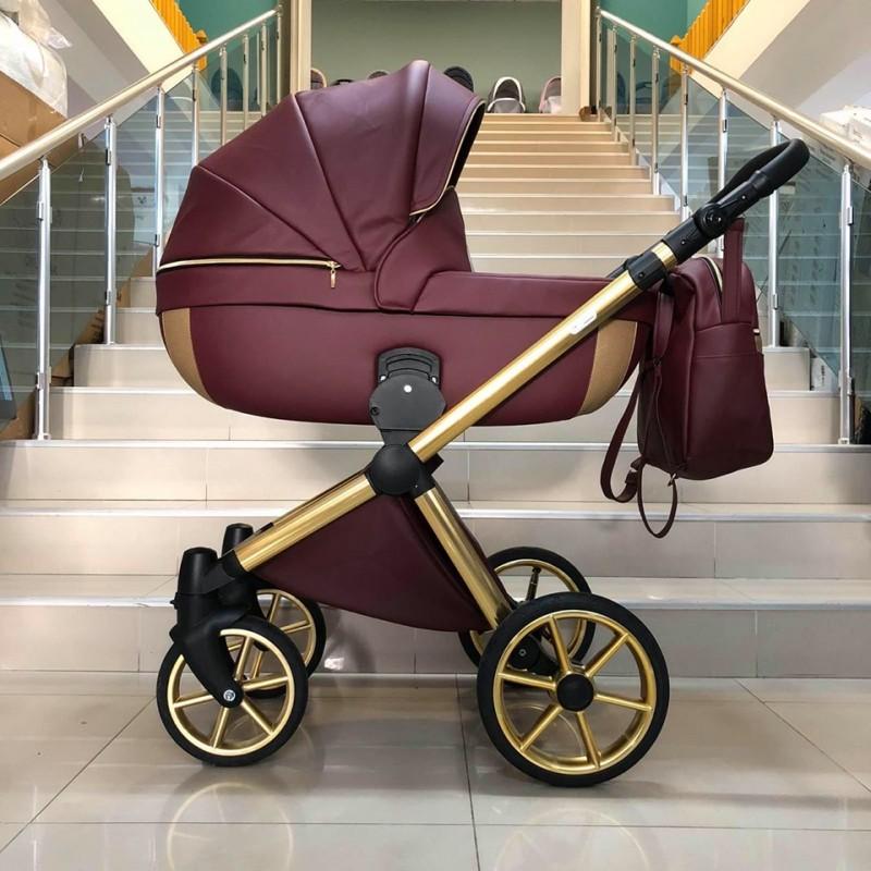 Бебешка количка Азуро 3в1; цвят: червен