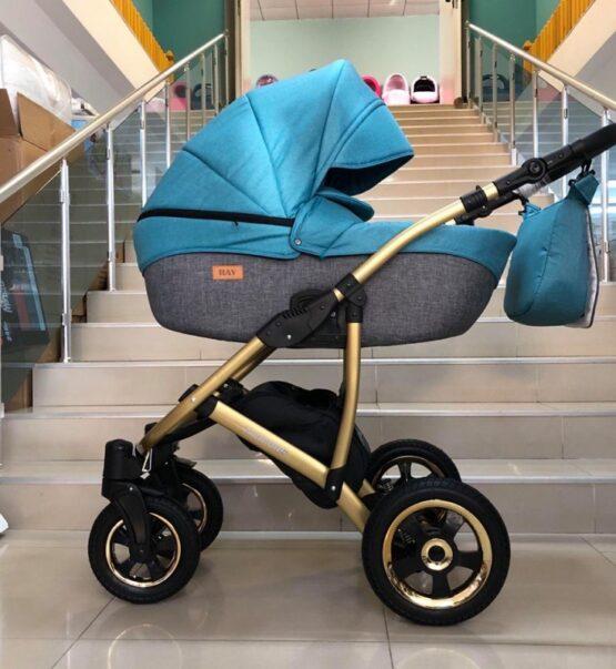 Бебешка количка Avinion 3в1; цвят: син
