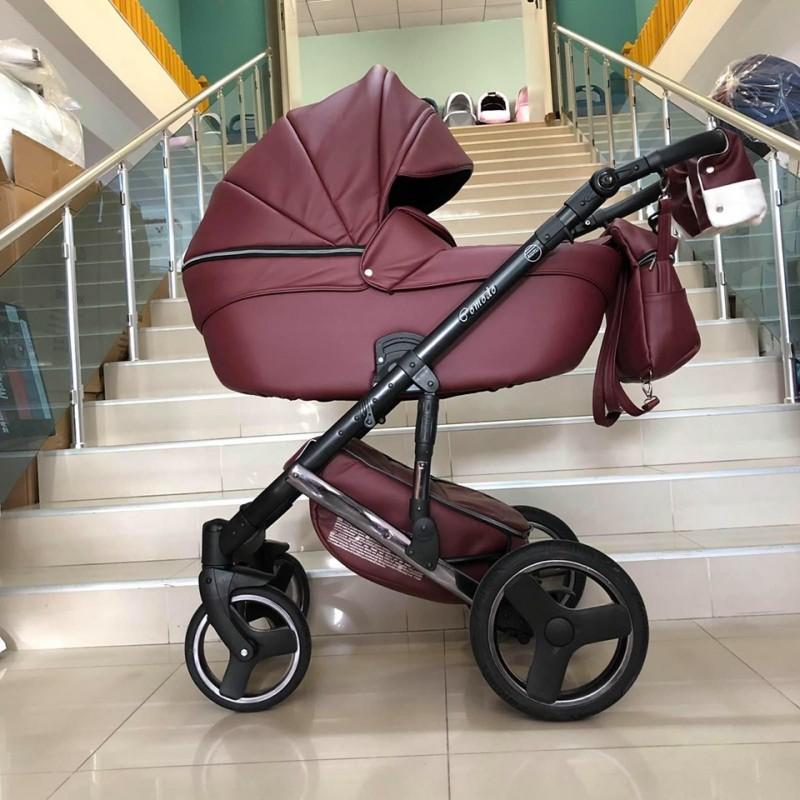 Бебешка количка Comodo Gold 3в1; цвят: червен