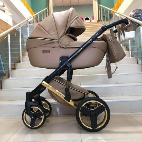 Бебешка количка Comodo Gold 3в1; цвят: капучино