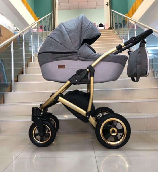 Бебешка количка Avinion 3в1; цвят: сив