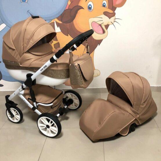 Бебешка количка Лексус 2в1; цвят: кафяв