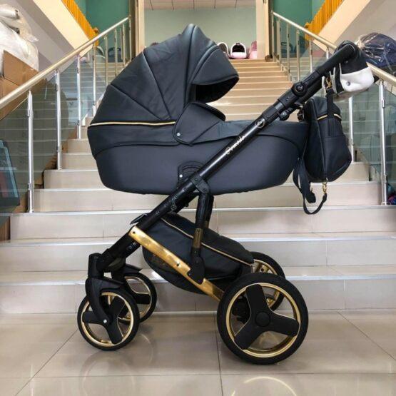 Бебешка количка Comodo Gold 3в1; цвят: черен