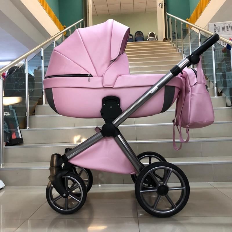 Бебешка количка Азуро 2в1; цвят: розов