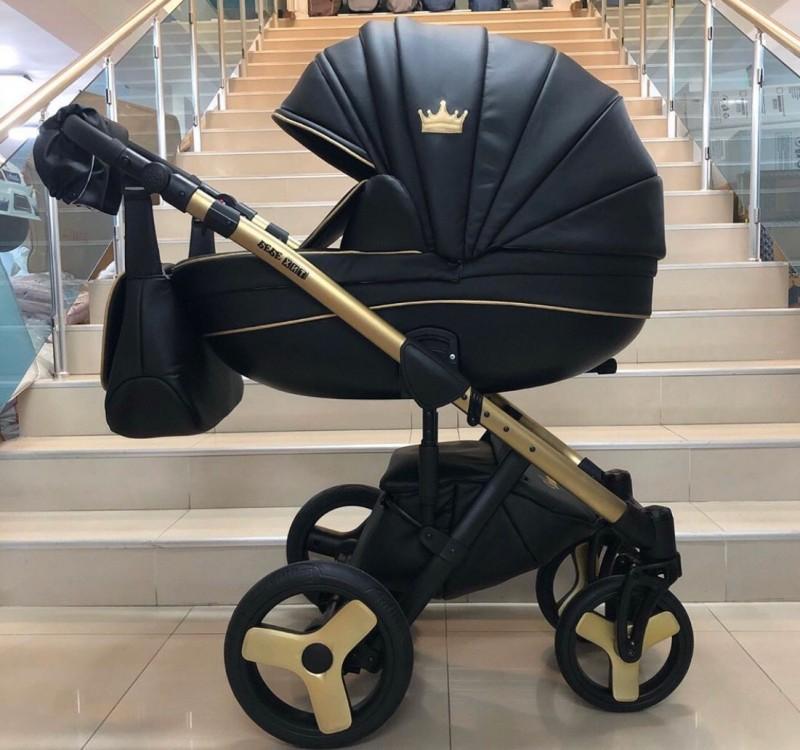 Бебешка количка Versay gold king 3в1; цвят/черно с златно