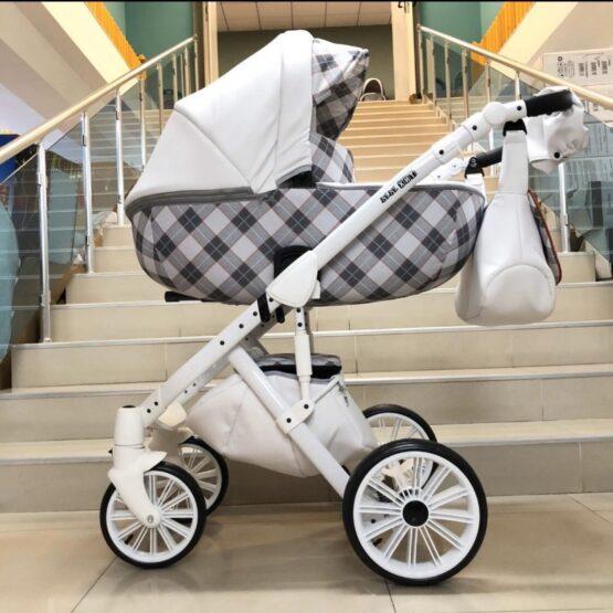 Бебешка количка Ферара 3в1 ; цвят/бял