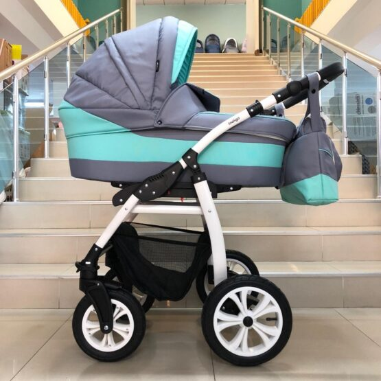 Бебешка количка Sydney 2в1; цвят/сив/малахит