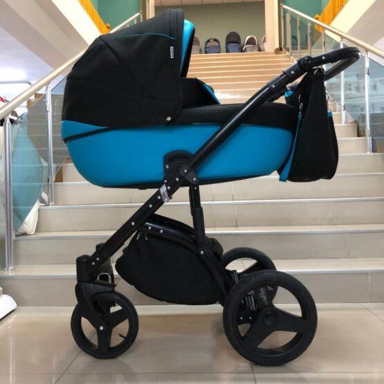 Бебешка количка Mondo 2в1; цвят/син/зелен