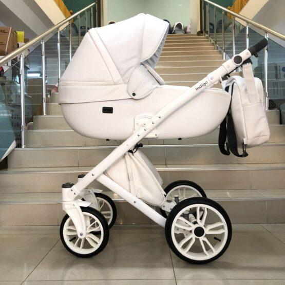 Бебешка количка Porto 3в1; цвят/бял