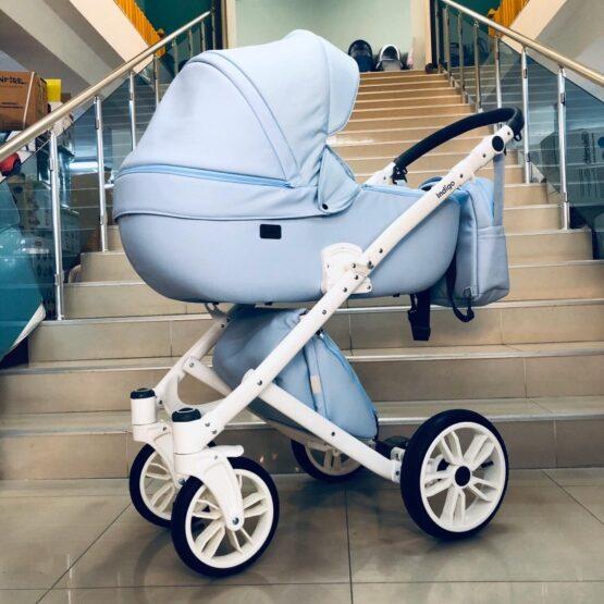 Бебешка количка Porto 3в1; цвят/син
